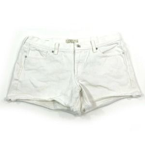 Lucky Brand The Cut Off Distress White Jean Shorts
